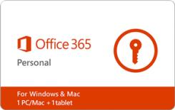 Microsoft Office 365 Personal - 1-yr Subscription