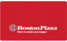 Boston Pizza eGift Card $15 CAD