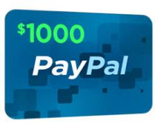$1,000 PayPal Giveaway