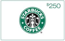 $250 Starbucks Gift Card