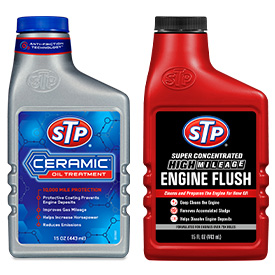 Ceramic Oil Treatment & High Mileage Engine Flush