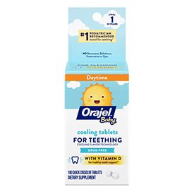 #1 Pediatrician recommended brand for teething