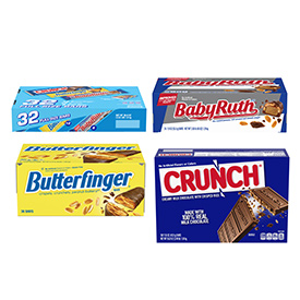 Full-size chocolate candy bar multi-packs!