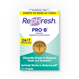 RepHresh™ Pro-B™ is a probiotic feminine supplement taken once daily.